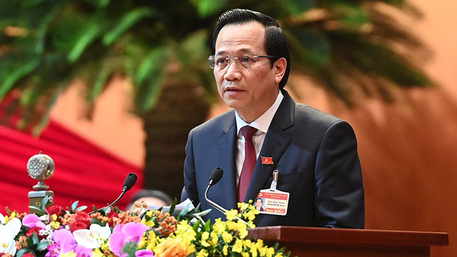 Dao Ngoc Dung, Minister of Labour, Invalids and Social Affairs
