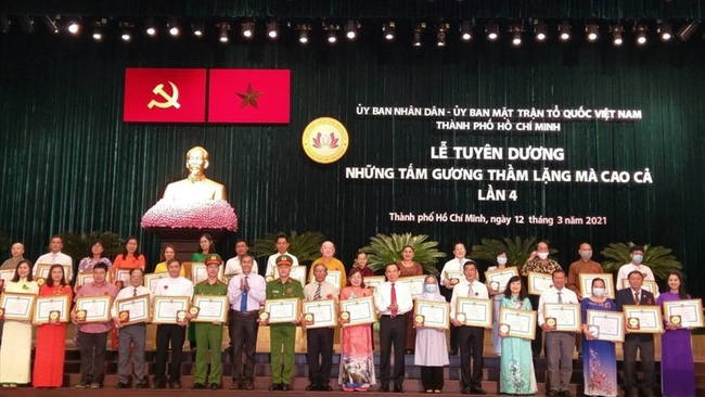 The ceremony to honour those with silent contributions to society in Ho Chi Minh City