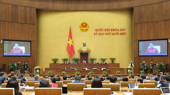 The third working day of 14th National Assembly's 11th session. (Photo: quochoi.vn)