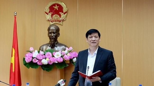 Minister of Health Nguyen Thanh Long speaks at the conference. (Photo: VNA)