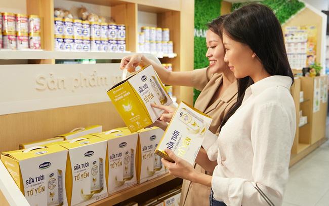 Vinamilk's fresh milk with bird's nest exported to Singapore.
