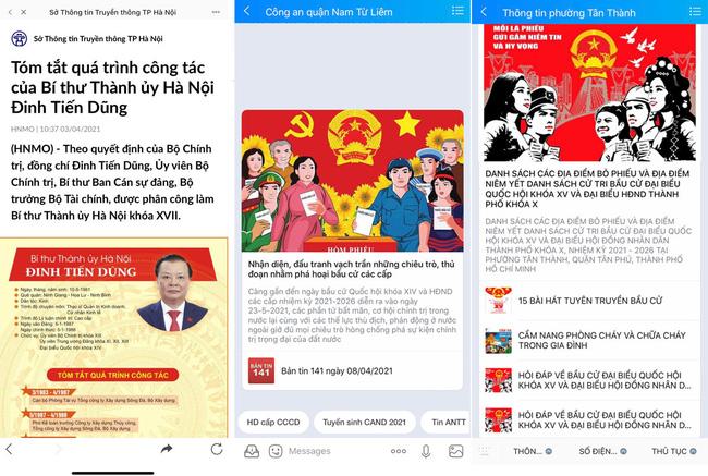 Cập nhật thông tin về bầu cử đại biểu Quốc hội và đại biểu HĐND các cấp qua Zalo - ảnh 2