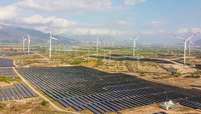 Vietnam's biggest wind power plant operational in Ninh Thuan province.