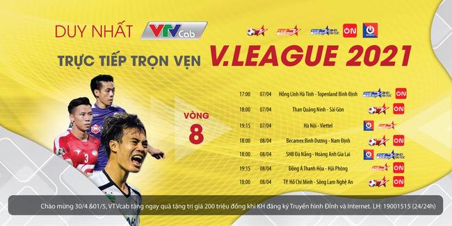 Vòng 8 V.League trên VTVcab: Hấp dẫn và đầy cảm xúc - ảnh 4