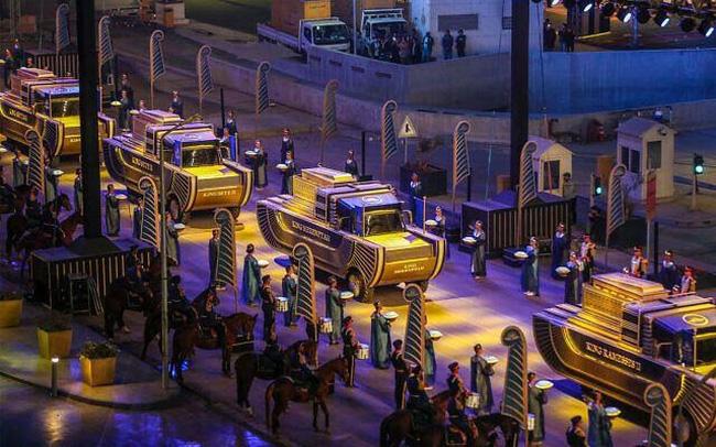 22 xác ướp được diễu hànhtrên đường phố Cairo (Ai Cập) - ảnh 7