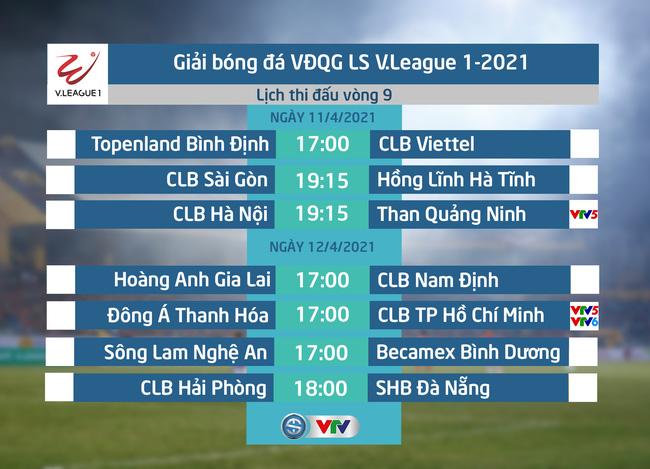 Lịch thi đấu và trực tiếp vòng 9 V.League 2021: Tâm điểm CLB Hà Nội – Than Quảng Ninh, Đông Á Thanh Hoá – CLB TP Hồ Chí Minh - ảnh 1