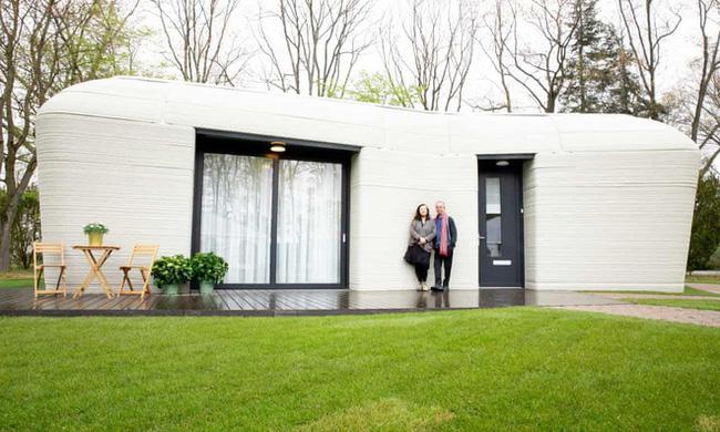 Ngôi nhà in 3D đầu tiên ở Hà Lan đã có người thuê - ảnh 1