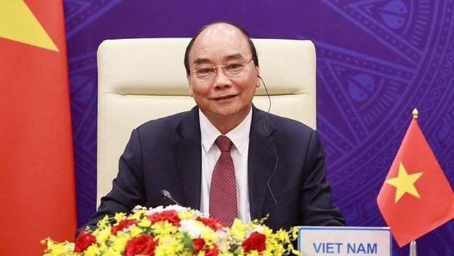 President Nguyen Xuan Phuc at the opening ceremony of the virtual Leaders Summit on Climate on April 22 (Photo: VNA)