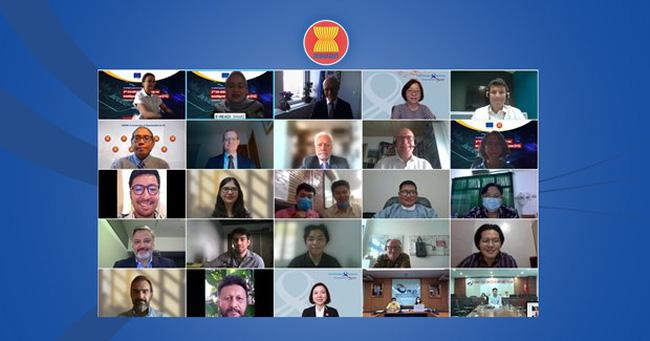 Participants in the virtual EU-ASEAN workshop (Photo: asean.org)