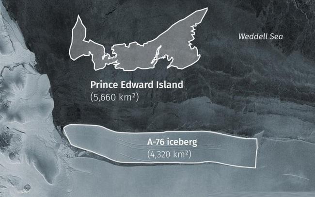 Tảng băng trôi lớn nhất thế giới vỡ ra từ thềm Nam Cực - ảnh 5