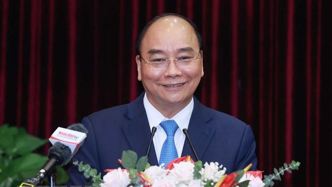 President Nguyen Xuan Phuc speaking at the event (Photo: VNA)