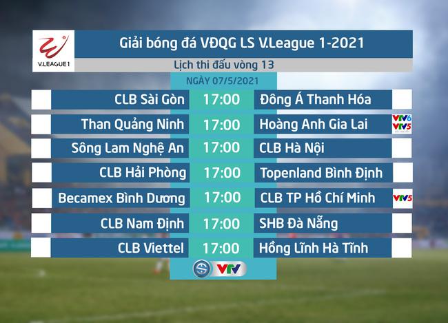 Lịch thi đấu, lịch trực tiếp vòng 13 V.League 2021: Tâm điểm Than Quảng Ninh – Hoàng Anh Gia Lai, B.Bình Dương – CLB TP Hồ Chí Minh - ảnh 1