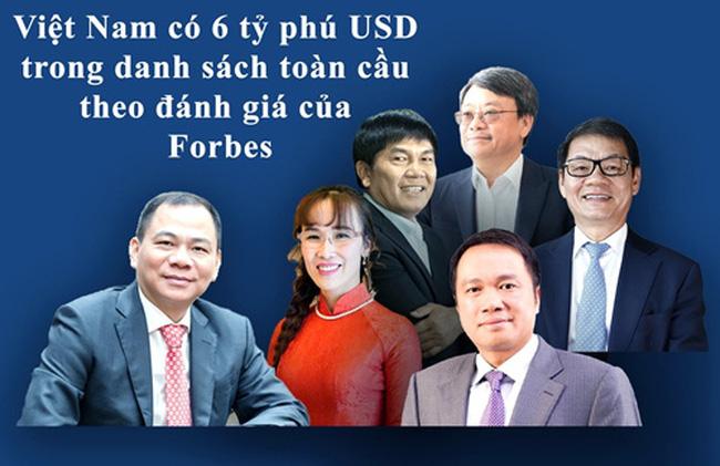 Six Vietnamese billionaires on Forbes list (Photo: baochinhphu)