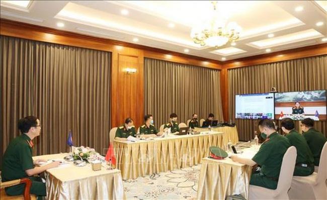 Vietnamese delegation attends the ADSOM+  WG held via video conference (Photo: VNA)