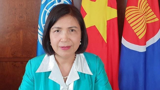Ambassador Le Thi Tuyet Mai, Permanent Representative of Vietnam to the UN, the World Trade Organisation and other international organisations in Geneva (Photo: VNA)