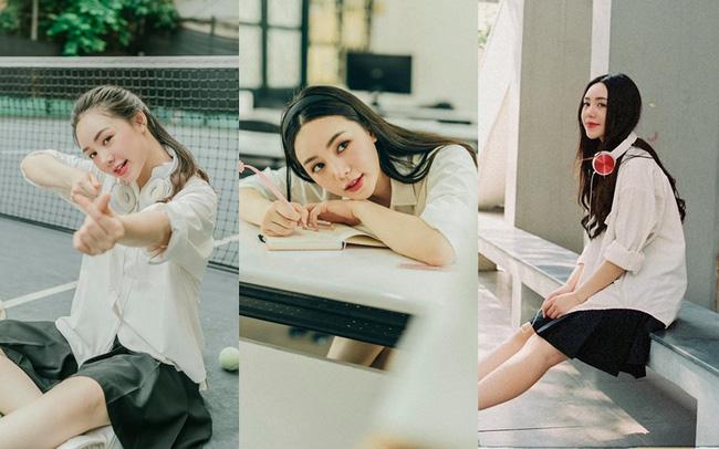 Quỳnh Kool hóa nữ sinh xinh đẹp trong bộ ảnh đón tuổi 26 - ảnh 17
