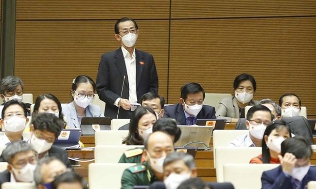 Deputy Tran Hoang Ngan from Ho Chi Minh City speaks at the session. (Photo: VNA)