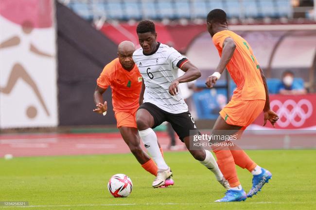 Đức 1–1 Bờ Biển Ngà: Chia điểm kịch tính   bảng D bóng đá nam Olympic Tokyo 2020