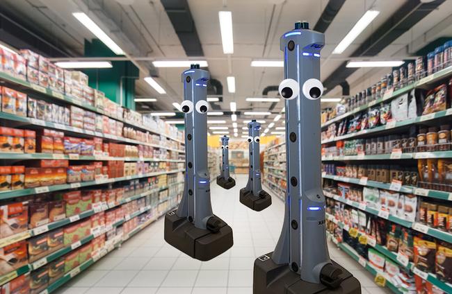 Robot giám sát vệ sinh phòng dịch tại siêu thị - ảnh 2
