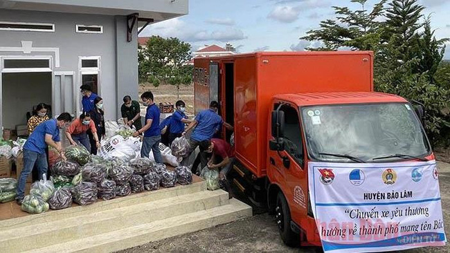 More than 23 tonnes of vegetables from Dak Lak province have been sent to support people in Ho Chi Minh City (Photo: NDO)