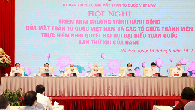 The national conference to launch the action plans of the Vietnam Fatherland Front (Photo: VNA)