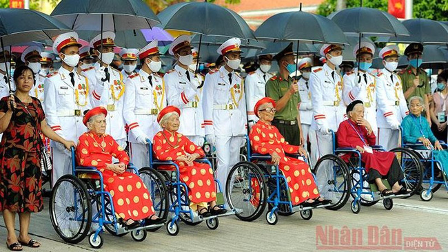 Delegates to the first national meeting of Vietnamese heroic mothers held in Hanoi in 2020. (Photo: NDO/Dang Khoa)
