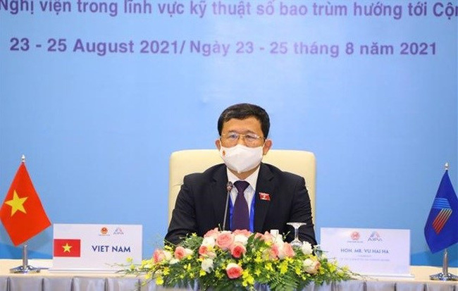 Chairman of the National Assembly (NA) Committee for External Relations Vu Hai Ha attends the meeting. (Photo: VNA)