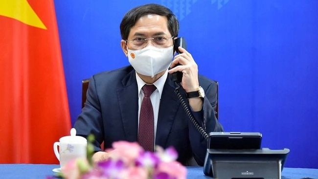 Minister of Foreign Affairs Bui Thanh Son, head of the government working group on COVID-19 vaccine diplomacy