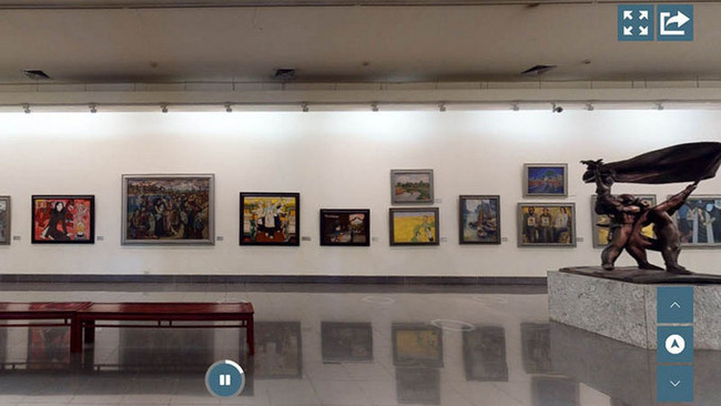 3D Tour illustration on the official website of the Vietnam Fine Arts Museum. (Photo: screenshots/NDO)
