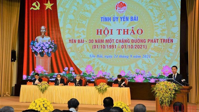 The workshop on Yen Bai Province's development in the past 30 years.