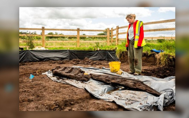 Khai quật tượng thần 1.600 năm tuổi tại Ireland - ảnh 1