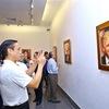 Mosaic ceramic paintings of APEC 2017 leaders displayed in Hanoi