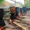 Brass pot, a necessary item of Thai families