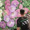 Vietnam flower mural along the Seine river