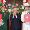 Senior public security, defense officers receive General rank
