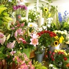 A flower shop with no plastic waste