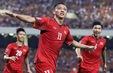 ĐT Việt Nam mặc áo đỏ trong trận chung kết AFF Cup 2018 tại Bukit Jalil