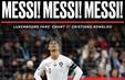 """CĐV hô vang """"Messi, Messi, Messi"""" để chế giễu Ronaldo"""