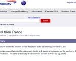 British Airways cảnh báo du khách đến Paris sau khủng bố kinh hoàng
