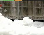 TP.HCM xuất hiện bọt nổi trắng xóa trên kênh Tàu Hủ