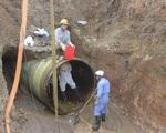 Đường ống nước sông Đà vỡ lần thứ 19