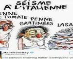 Báo Charlie Hebdo bị kiện vì bức tranh gây sốc về động đất