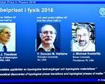 3 nhà khoa học Anh đoạt giải Nobel Vật lý 2016