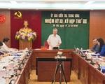 Thông cáo báo chí Kỳ họp thứ VII Ủy ban Kiểm tra Trung ương