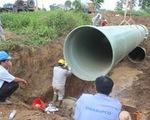 Đường ống nước sạch sông Đà vỡ lần thứ 18