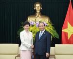 Thủ tướng tiếp Trưởng Khu hành chính đặc biệt Hong Kong (Trung Quốc)