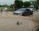Mưa lớn, nhiều nơi tại Thanh Hóa ngập trong biển nước
