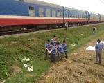 Tàu hỏa đâm ngang xe máy khiến 3 người tử vong