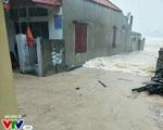Bão số 10 gây mưa lớn tại Thanh Hóa, mọi tuyến đường ngập trong nước