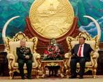 Đại tướng Ngô Xuân Lịch hội kiến với Tổng Bí thư, Chủ tịch nước Lào - ảnh 1